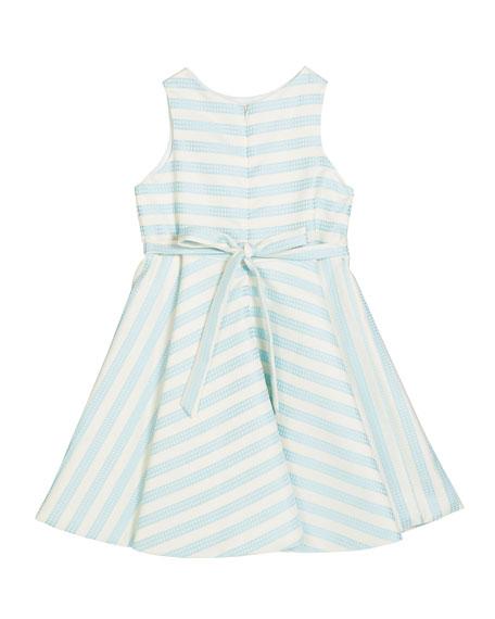 Susanne Lively Girl's Striped Twirl Dress, Size 4-6X
