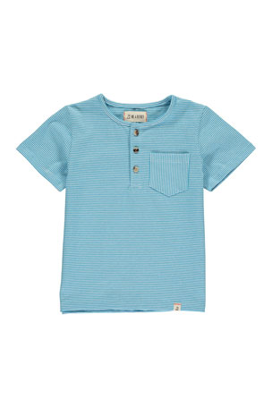 Me & Henry Boy's Striped Henley T-Shirt w/ Children's Book, Size 3T-10