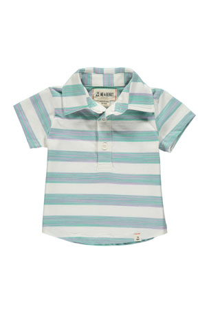 Me & Henry Boy's Striped Cotton Polo Shirt w/ Children's Book, 6-24 Months