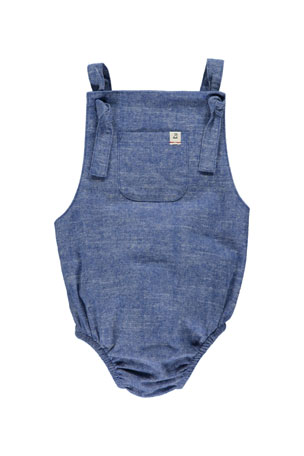 Me & Henry Boy's Bubble Overall Bodysuit w/ Children's Book, Size 6-24 Months