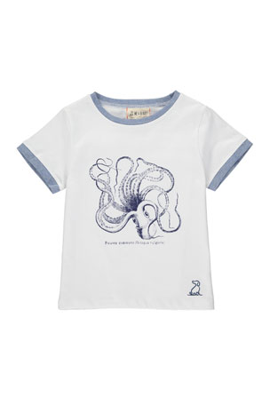 Me & Henry Boy's Octopus Graphic T-Shirt w/ Children's Book. Size 3T-7