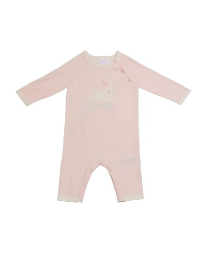 Bunny Intarsia Knit Coverall  Size 0-12 Months