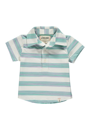 Me & Henry Boy's Striped Cotton Polo Shirt w/ Children's Book, 3T-10