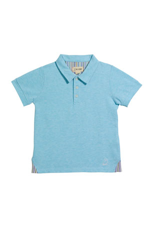 Me & Henry Boy's Cotton Polo Shirt w/ Children's Book, 3T-10