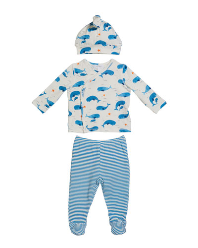 Whale Pod Take Me Home 3-Piece Layette Set  Size 0-3 Months