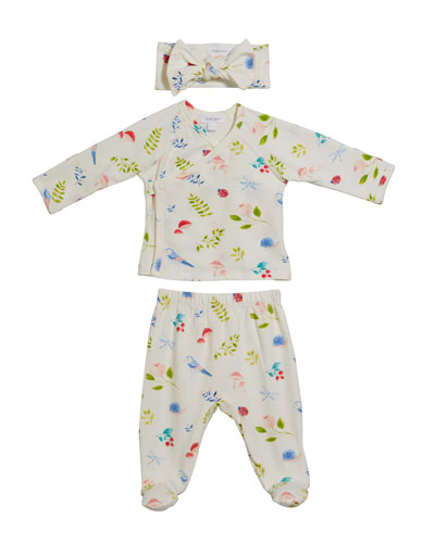 Nature's Notebook Take Me Home 3-Piece Layette Set