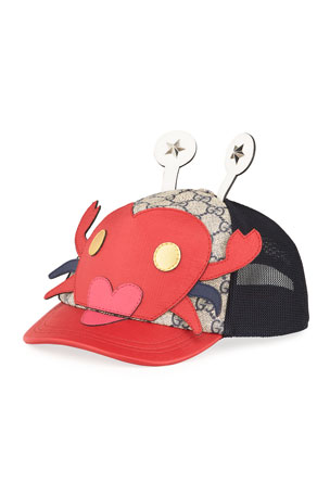 Gucci Kid's Embroidered Crab Baseball Hat