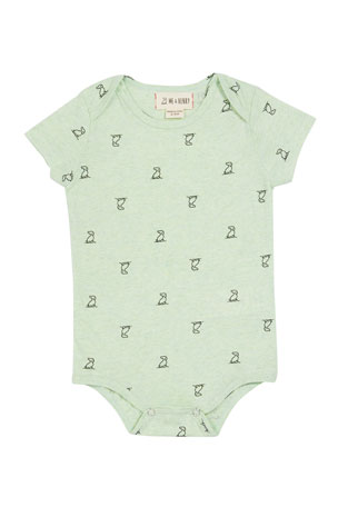Me & Henry Boy's Dog-Print Bodysuit w/ Children's Book, Size 0-12 Months