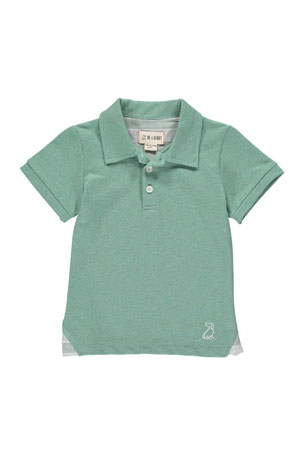 Me & Henry Boy's Cotton Pique Polo Shirt w/ Children's Book, Size 3T-10