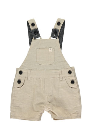 Me & Henry Boy's Twill Overalls w/ Children's Book, Size 6-24 Months