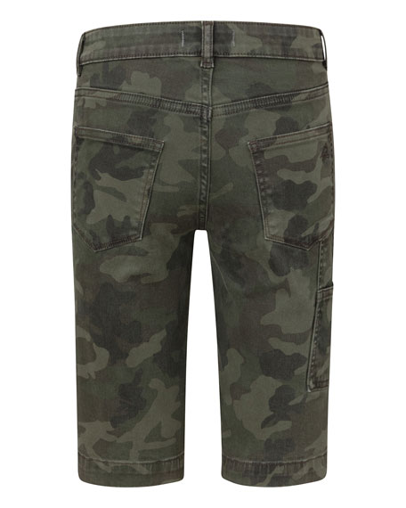 DL1961 Premium Denim Boy's Jacob Camo Twill Chino Shorts, Size 8-14