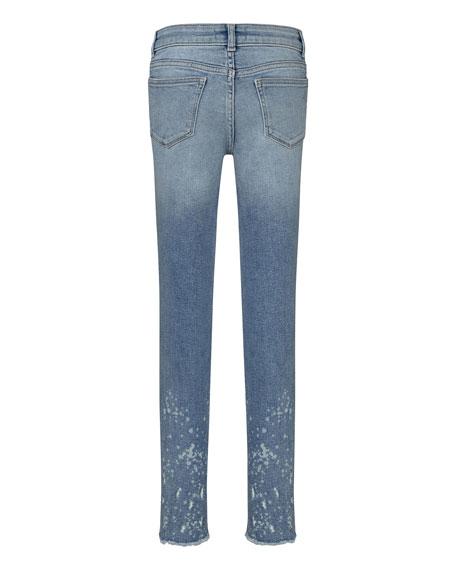 DL1961 Premium Denim Girl's Chloe Paint Splatter Skinny Jeans, Size 7-16