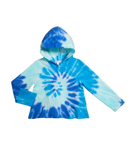 Design History Girls Girl's Tie Dye French-Terry Sweatshirt, Size 6X-6