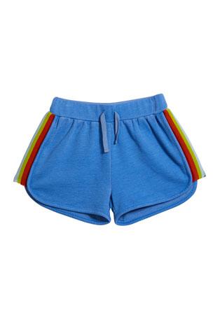 Design History Girls Girl's Rainbow Tape Drawstring Shorts, Size S-XL