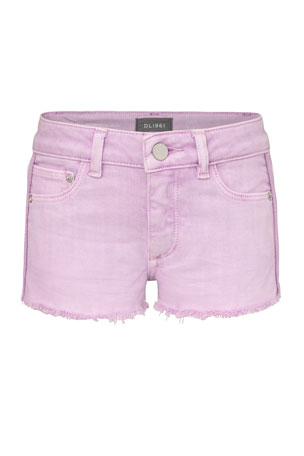 DL1961 Premium Denim Girl's Lucy Cutoff Denim Shorts, 7-16