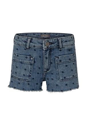 Kids Boys Fashion Mustache Hat Design Pants Denim Elastic Waist Jeans Size 4-10