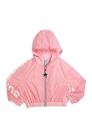 Burberry Girl's Thorley Nylon Wind Jacket, Size 3-14