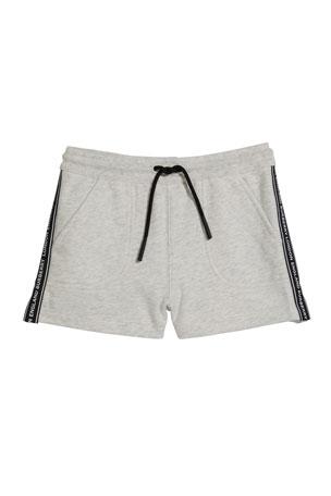 Burberry Girl's Nala Tape Trim Fleece Jogging Shorts, Size 3-14