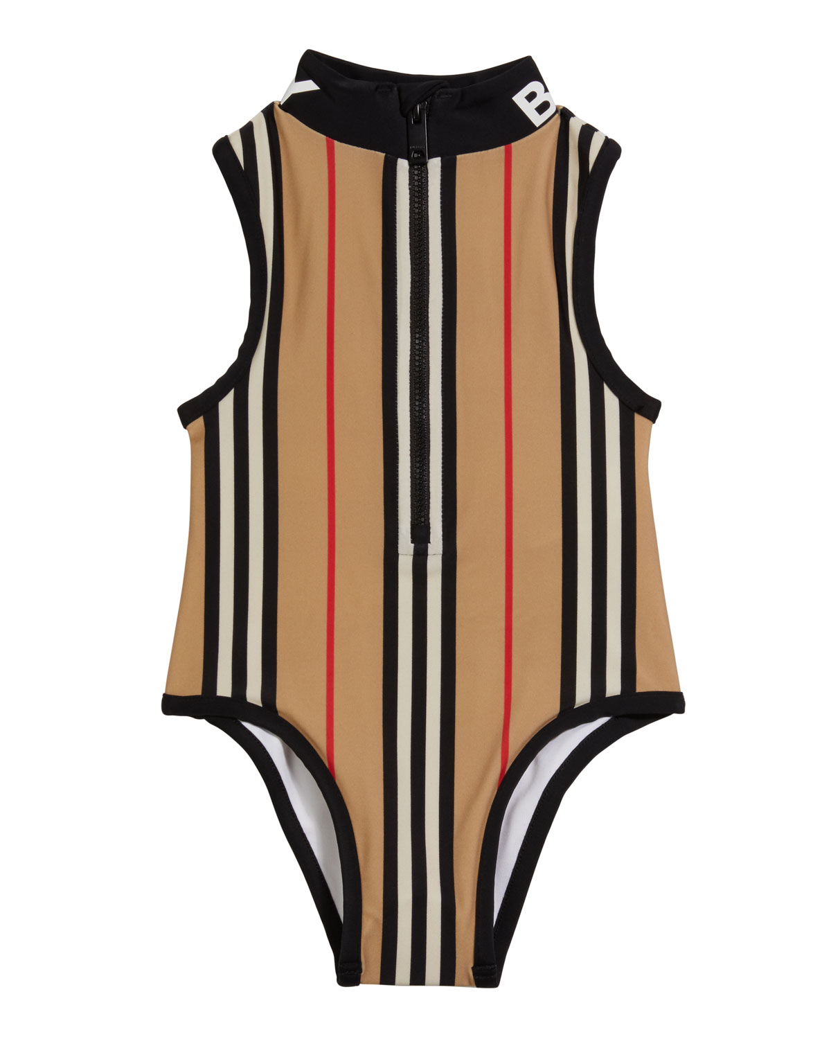 Burberry Girl's Siera Archive Stripe One-Piece Swimsuit, Size 3-14