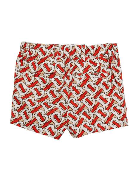 Burberry Nicki Monogram-Print Shorts, Size 6M-2