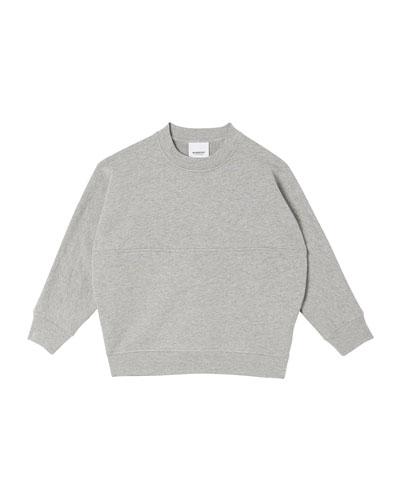Boy's Linus Logo Print Cotton Sweatshirt  Size 3-14