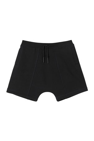 Burberry Boy's Lucian Logo Tape Fleece Shorts, Size 3-14