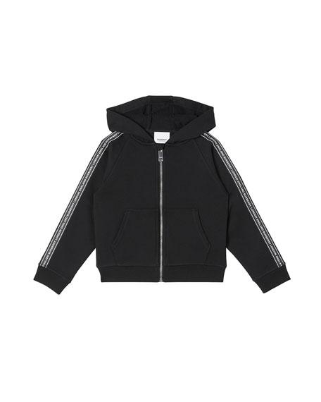 Burberry Boy's Corwyn Logo Tape Fleece Zip Jacket, Size 3-14