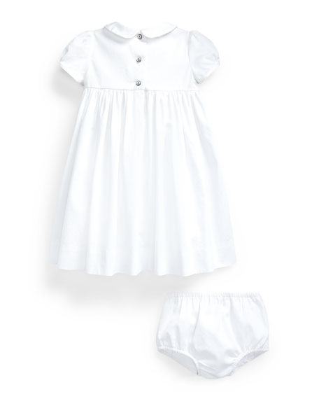 Ralph Lauren Childrenswear Girl's Bedford Anchor Smock Dress w/ Bloomers, Size 9-24 Months