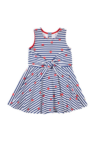 Florence Eiseman Girl's Strawberry-Print Sleeveless Dress