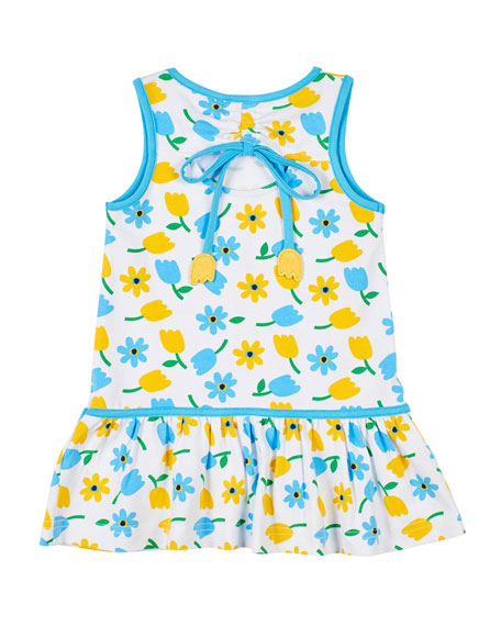 Image 2 of 2: Florence Eiseman Tulip-Print Sleeveless Dress, Size 2-6X