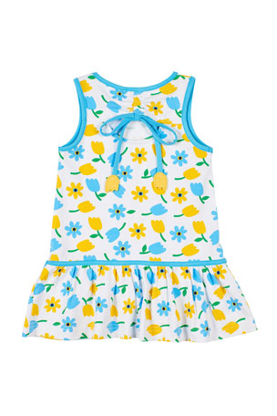 Fabal Toddler Kids Baby Girls Flare Short Sleeve Solid Princess Dress Clothes