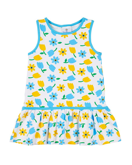 Image 1 of 2: Florence Eiseman Tulip-Print Sleeveless Dress, Size 2-6X