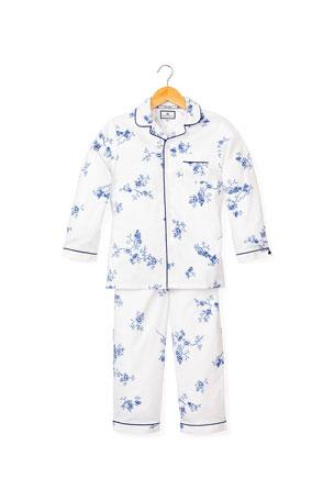 Luxury Classic Yellow Gingham Designer Pajama Set Boys Girls Sizes 6m-14 NWT