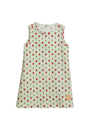 Smiling Button Girl's Honey Bee Printed Sleeveless Dress, Size 18M-10