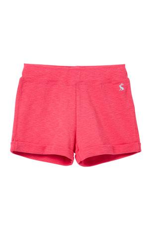 Womens Athletic Shorts BLACK WHITE HOT PINK Zebra Print Sides M 8-10
