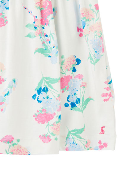 Joules Girl's Bethany Floral-Print Sleeveless Dress, Size 2-6