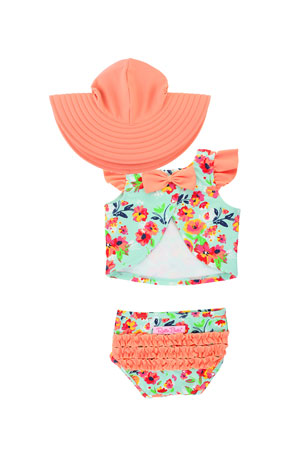 NWT New Baby Boys Girls Swimsuit Pants Sunhat set 4~24months