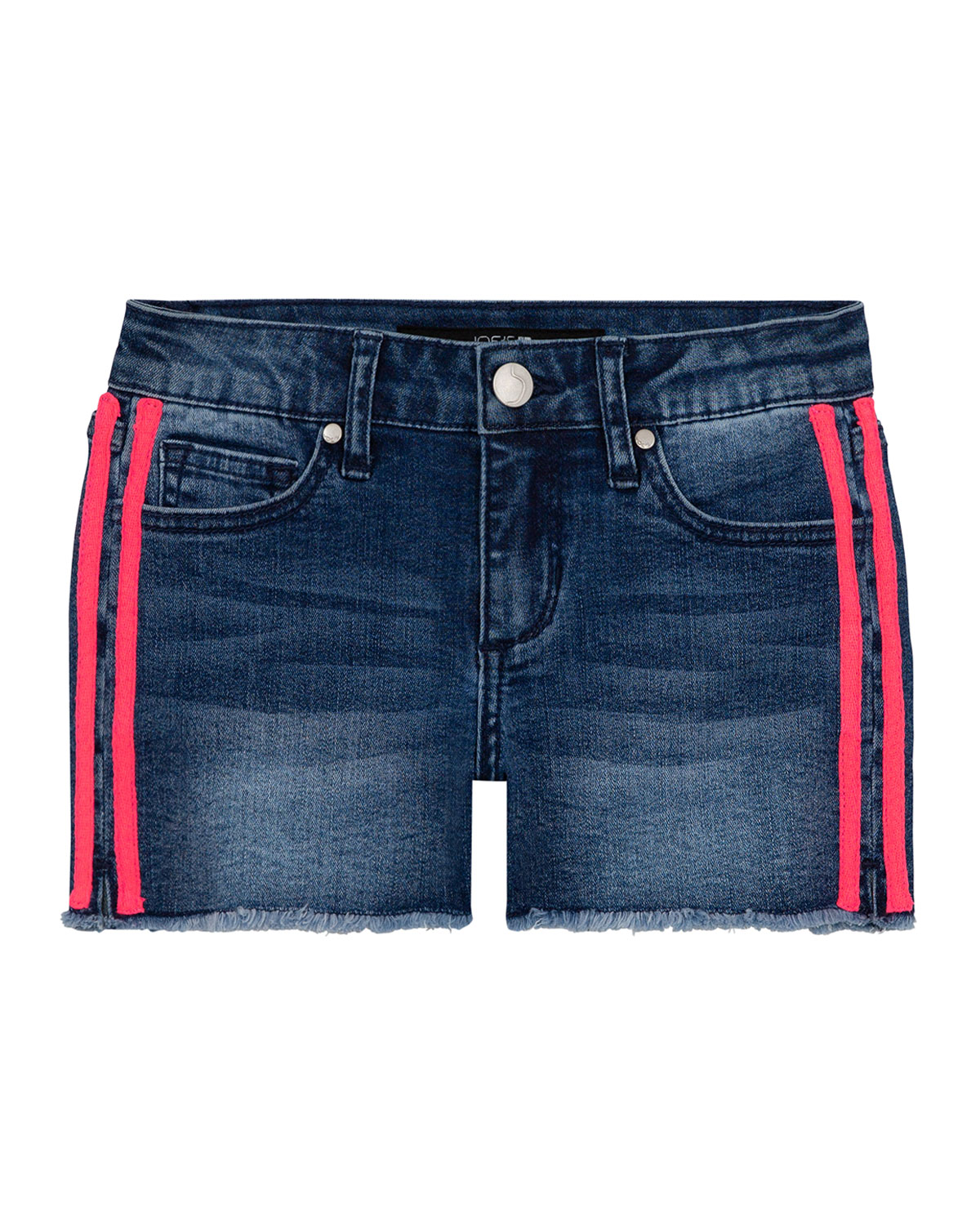 Joe's Jeans Girl's Neon Side-Tape Denim Shorts, Size 7-16