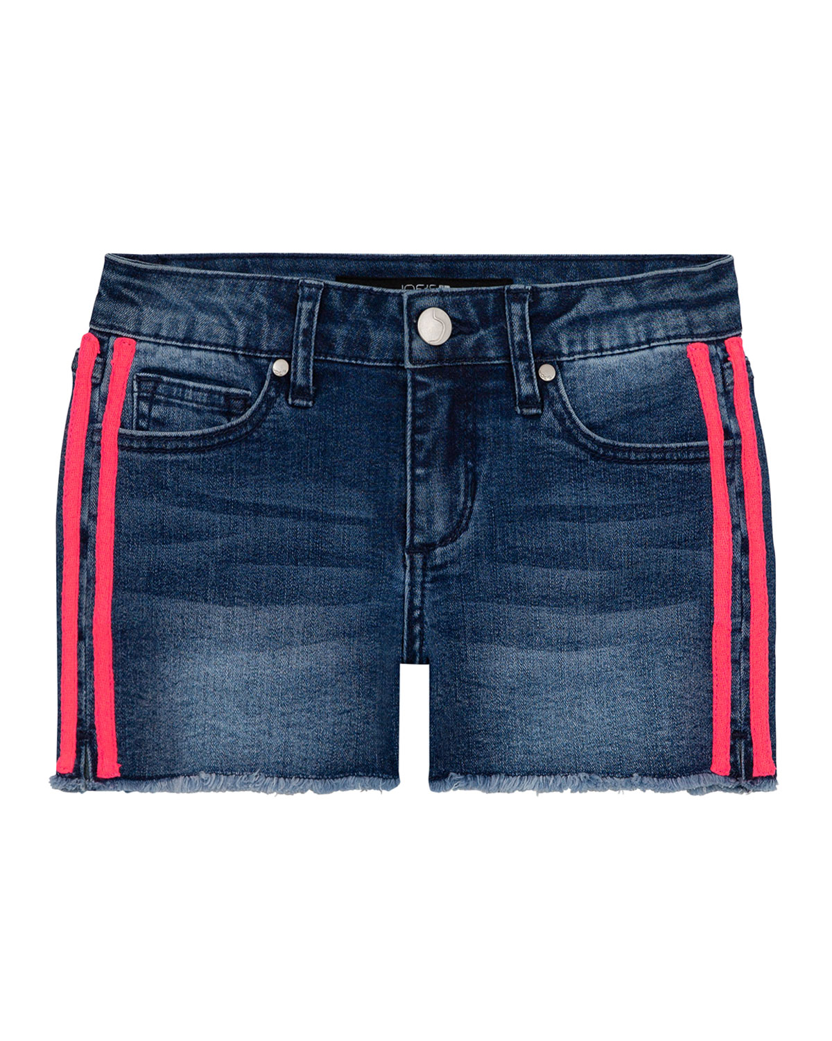 Joe's Jeans Girl's Neon Side-Tape Denim Shorts, Size 4-6X
