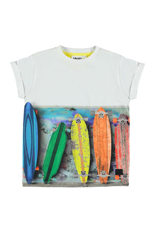 Molo Boy's Randon Skateboard Graphic Short-Sleeve T-Shirt, Size 4-12