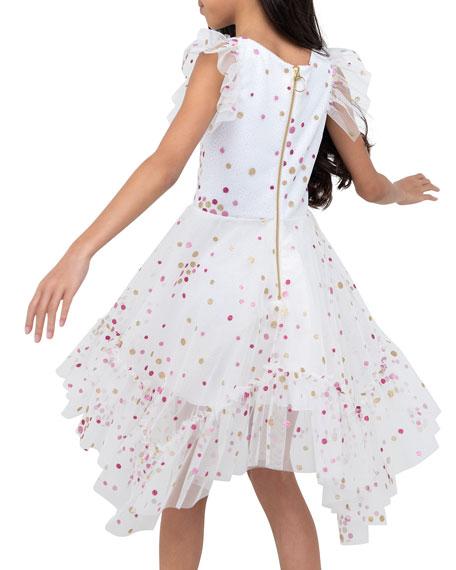 Zoe Girl's Sparkle Dot Mesh Dress, Size 4-6X
