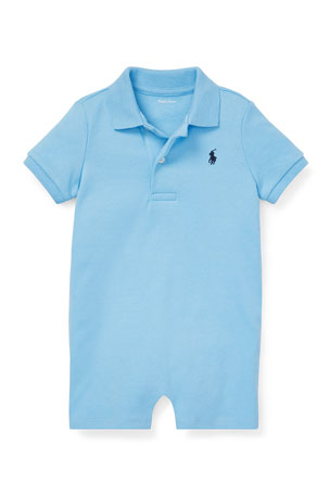 Ralph Lauren Childrenswear Boy's Interlock Polo Shortall, Size 3-24 Months