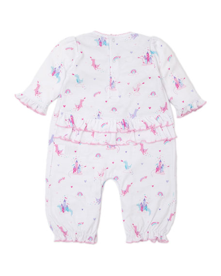 Image 2 of 3: Kissy Kissy Rainbow Castles Printed Playsuit, Size 0-18 Months