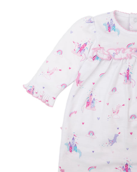 Image 3 of 3: Kissy Kissy Rainbow Castles Printed Playsuit, Size 0-18 Months