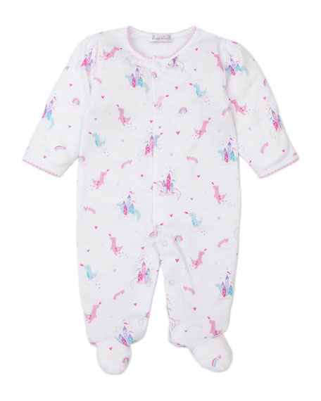 Image 1 of 2: Kissy Kissy Rainbow Castles Printed Footie Playsuit, Size Newborn-9 Months