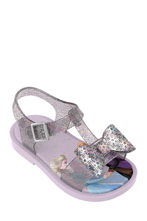 Mini Melissa Frozen 2 Glitter Sandals, Baby/Toddler