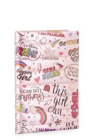 Bari Lynn Kids' Girl Power Quilted Puffy Notebook
