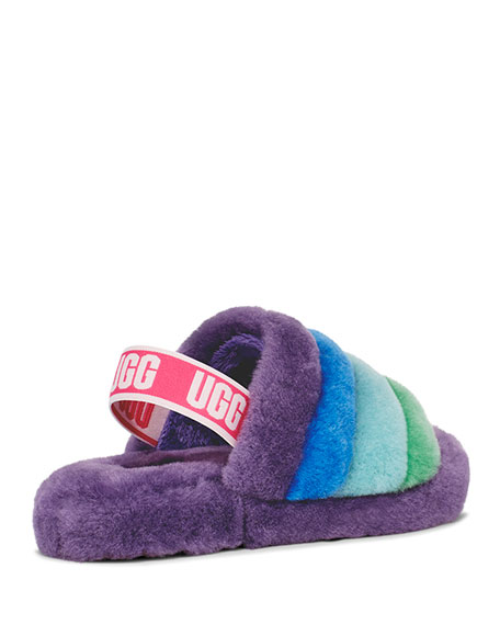 Image 2 of 4: UGG Fluff Yeah Shearling Slides, Kids