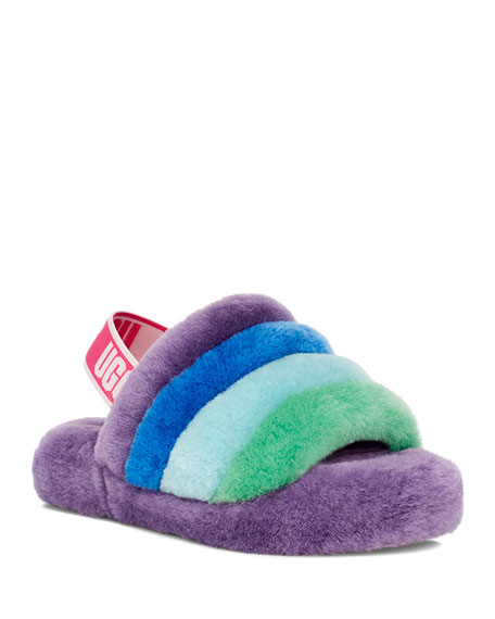Image 1 of 4: UGG Fluff Yeah Shearling Slides, Kids