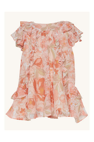 Bardot Junior Ocilia Floral-Print Ruffle Dress, Size 6-36 Months